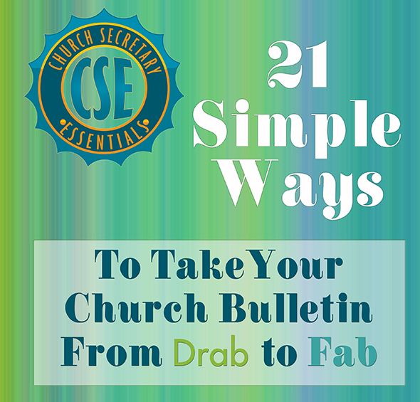 Drab to Fab Church Bulletins
